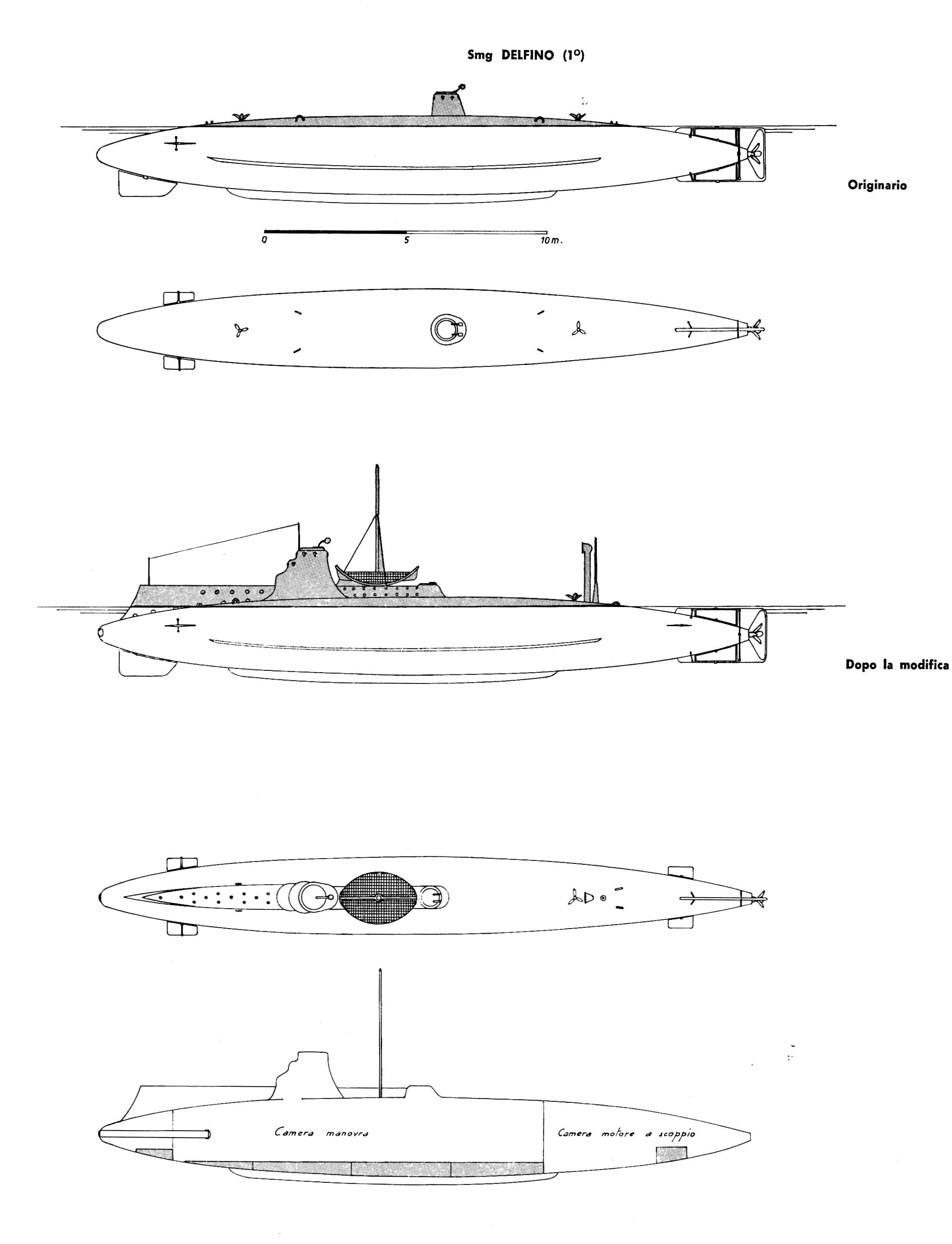 1890-1904-smg-DELFINO-profilo-I.sommergibili.Italiani-1963