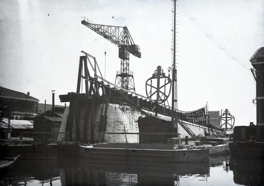 Scalo-arsenale-Venezia-sommergibile-classe-Glauco